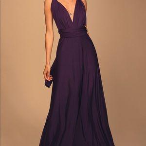 Lulu's Convertible Purple Maxi Dress